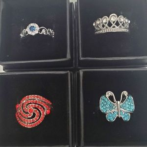 Jewelry - Lot of Women's Trendy Fashion Rings Sz 7